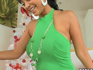 Merry X-Mas, to all our Bangbros fans! We're back with one more sexy progenitrix I'd like to fuck for u on this week's progenitrix I'd like to fuck Lessons! Hotass Indian sweetheart Priya Rai! Awesome! Mike has a present for the sexy Priya. This Chick unwraps her gift and to her amazement, it's Mike's dick in a box! That's exactly what that playgirl wanted from Santa. Since this babe's been so good (in the nasty way) this year, Mike decided to give her her present now. This Guy fucked her so good that Priya squirted all over his knob. Mike didn't mind the water works. This Chab had his face stuffed in her wet wet crack, skunk away. This Guy gave her his knob until this guy dropped a gravamen of cum on her abdomen. Don't miss out on this holiday particular. It's your Christmas Night before gift! Have A Fun!
