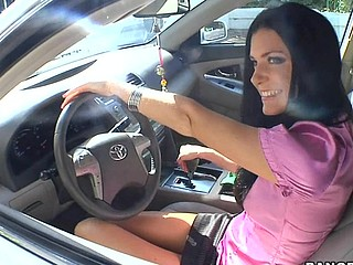 India Summer lives alone and has had a crush on the security guard that works in her apartment complex. That Babe gives a decision to lure him to the abode asking him if that guy could assist her with her security system. This of course was a bold face lie, but it did the trick. This Guy comes over and fiddles around with the key pad when all of a sudden this babe comes down stars wearing no thing but her pants. The guard can't aid him self be enticed by her and raunchy madness ensues. They fucked all over the living room and this babe pretty in a short time finds out that that guy likewise has had a crush on her for some time and even masturbated in the guard booth a pair times. This one is for the books. Have A Fun!