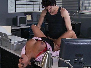 Priya and Xander are one as well as the other fighting for the same position at Glubbert Financial. The One And The Other are equally qualified, equally ambitious and thus, equally abhor each other as result. In a battle of wits, billibongs and dicks the two proceed to fuck each others brains out all over the office in order to settle the score, one time and for all. Who will come out triumphant?