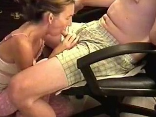 That babe was a bit shy because the camera was shooting, but too horny. I sat in an armchair and that babe knelt in front to wrap her lips around my cock. Then, that babe performed one of the best blowjobs ever.