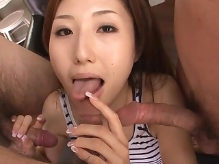 Sexy Oriental mamma in heels gets stripped and fucked on siamoise