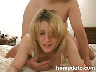 Hawt MILF gets doggystyled and facialized