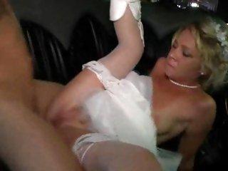 Succulent bride gets her shaven snatch pulverized
