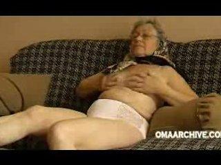 Granny couch disrobe