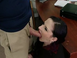 Jordan is down visiting his mother so that hottie takes him to her work and shows him around. When this chab meets her sexy boss this hottie just now takes a liking to him. The boss quickly finds tasks for Jordan's mother so this hottie can have him all to herself.